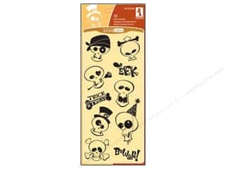 Inkadinkado InkadinkaClings Clear Stamp Skull Club