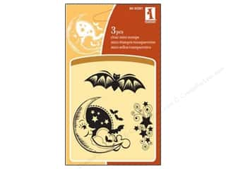 Inkadinkado Clear Stamp Mini Bat N Moon