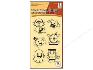 Inkadinkado InkadinkaClings Rubber Stamp Cute Ghouls