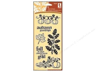 Inkadinkado InkadinkaClings Clear Stamp Autumn Foliage