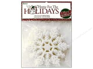 Darice Holiday Decor Snowflake 4&quot; Pearlized 10pc