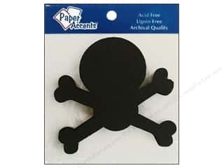 Paper Accents Chip Shape Skull & Bones Black 8pc