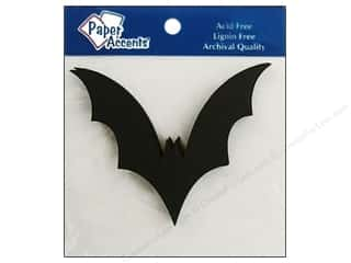 halloween spook-tacular: Paper Accents Chipboard Shape Bat 8 pc. Black