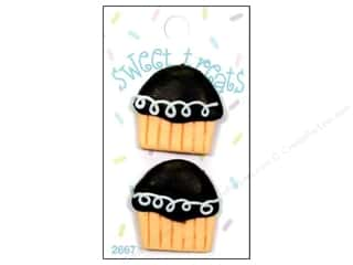 Blumenthal Button Sweet Treats Cupcake Choco 2pc