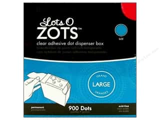 Glue Dots Double-sided Tape: Therm O Web Zots Clear Adhesive Dots 1/2 x 1/64 in. Large 900 pc.
