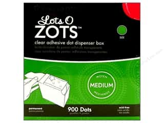 Therm O Web Zots Clear Adhesive Dots Medium 900 pc.