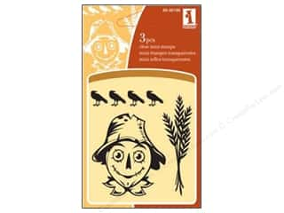Clearance Inkadinkado Clear Stamp Mini: Inkadinkado InkadinkaClings Clear Stamp Mini Scarecrow