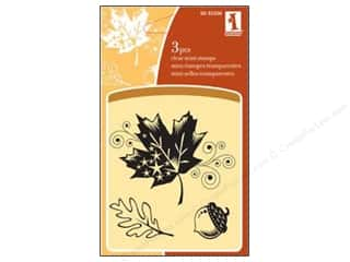 Inkadinkado Mini Clear Stamp Patterned Leaf