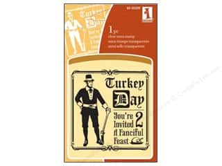 Rubber Stamping Inkadinkado InkadinkaClings Clear Stamps: Inkadinkado InkadinkaClings Clear Stamp Mini Turkey Day
