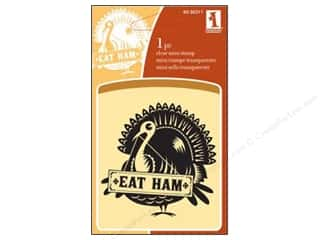 Inkadinkado Clear Stamp Mini Eat Ham Turkey