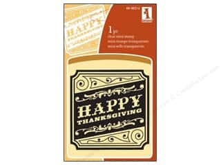 Inkadinkado Clear Stamp Mini Happy Thanksgiving