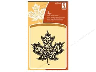Inkadinkado Clear Stamp Mini Single Maple Leaf
