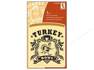 Dress Shields / Garment Shields: Inkadinkado InkadinkaClings Clear Stamp Mini Turkey Bowl
