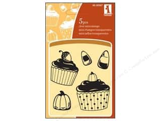 Rubber Stamping Fall / Thanksgiving: Inkadinkado InkadinkaClings Clear Stamp Mini Fall Treats