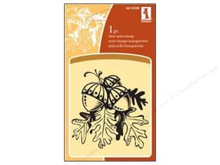 Inkadinkado Clear Stamp Mini Oak Leaves