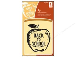 Clearance Plaid Stamps Clear: Inkadinkado InkadinkaClings Clear Stamp Back To School