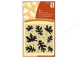 Inkadinkado Clear Stamp Mini Leaf Wallpaper