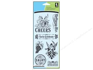 Inkadinkado InkadinkaClings Clear Stamp Wine and Gift Tags
