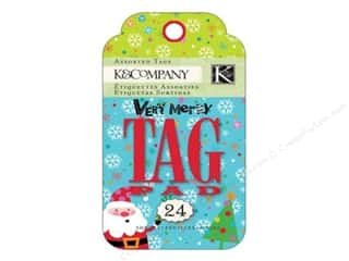 K&amp;Co Tag Pad Very Merry