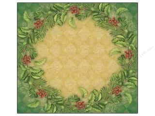 Wreaths Clearance Crafts: K&Company 12 x 12 in. Paper Visions of Christmas Collection Shimmer Wreath by Elizabeth Brownd (12 sheets)