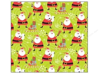 Flowers K&Company 12 x 12 in. Paper: K&Company 12 x 12 in. Paper Very Merry Collection Glitter Santa (12 sheets)