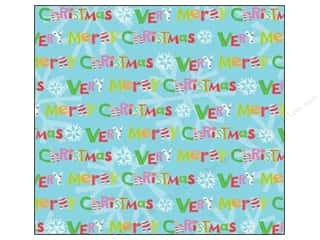 K&Co Paper 12x12 Very Merry Foil Merry Christmas (12 sheets)