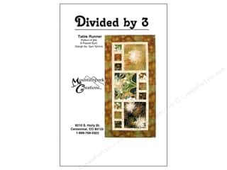 Mountainpeek Creations Quilt Patterns: Mountainpeek Creations Divided By 3 Pattern
