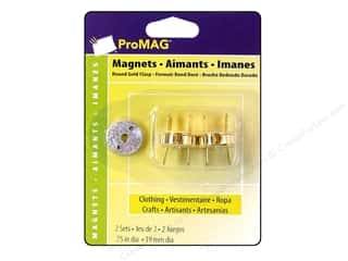 "Magnets: ProMag Magnetic Clasp Round Gold .75"" 2pc"