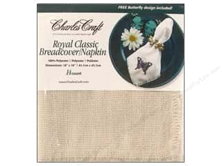 Charles Craft Embroidery: Charles Craft Breadcovers / Napkins Light Oatmeal