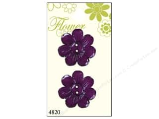 Buttons Sewing & Quilting: Blumenthal 2 Hole Buttons Purple Daisy 2 pc.