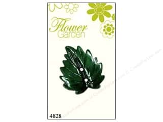 Blumenthal Buttons Leaf Shiny Green 1pc