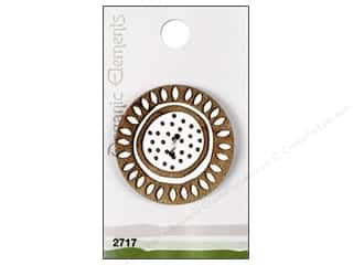 button: Blumenthal Button Organic Elements White/Tan 1pc