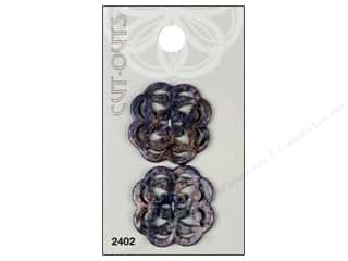 Blumenthal Buttons Cut Outs 1 1/8 in. Purple 2 pc.