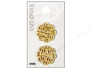 Blumenthal Buttons Cut Outs 1 in. Cream 2 pc.