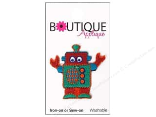 Blumenthal Embroidered Appliques: Blumenthal Boutique Applique 1 1/2 in. Robot