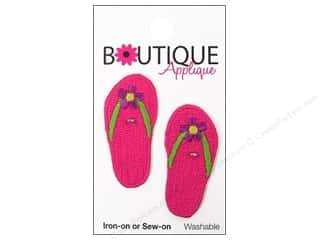 Blumenthal Applique Boutique Pink Flip Flops