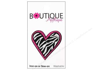 Blumenthal Hearts: Blumenthal Boutique Applique 1 3/8 in. Zebra Heart