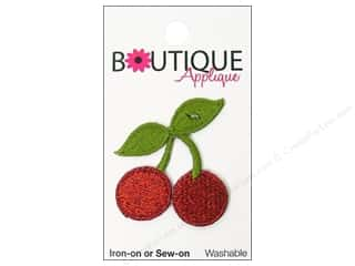Fruit & Vegetables: Blumenthal Boutique Applique Red Cherries