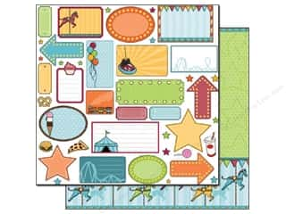 Best Creation Chipboard Shapes: Best Creation 12 x 12 in. Paper Loops And Scoops Collection Fun Zone (25 sheets)