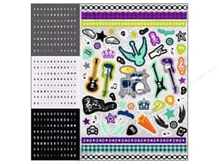 Shadowbox Frames Music & Instruments: Best Creation Glitter Combo Stickers 350 pc. Rock Star