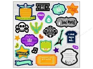 Best Creation Chipboard Shapes: Best Creation Expression Chipboard 24 pc. Rock Star