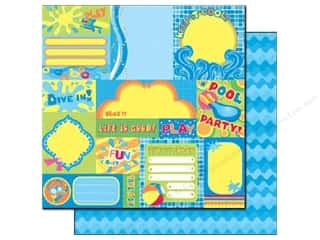 Best Creation Printed Cardstock: Best Creation 12 x 12 in. Paper Splash Fun Collection Fun In The Sun (25 sheets)