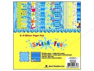 Best Creation Paper Pad Glitter 6&quot;x 6&quot; Splash Fun