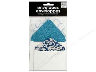 Clearance Me And My Big Ideas Envelopes: MAMBI Mini Envelopes Blue Glitter 5pc