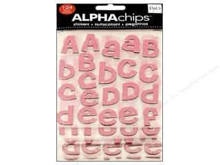 bubble abc & 123: Me&My Big Ideas Sticker Alphachips Glitter Cheri Light Pink