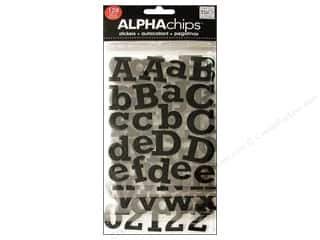MAMBI Sticker Alpha Glitter Rockwell Black