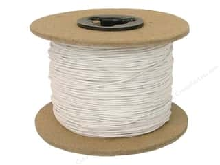 Elastic Sewing Construction: Conrad Jarvis Elastic Bead Cord Reel 1/32 in x 144 yd White (144 yards)