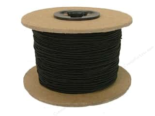 Conrad Jarvis Elastic Bead Cord 1/32 in x 144 yd Black (144 yards)