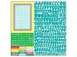 "Crafter's Workshop, The ABC & 123: Echo Park Sticker 12""x 12"" Country Drive Alphabet (15 sheets)"