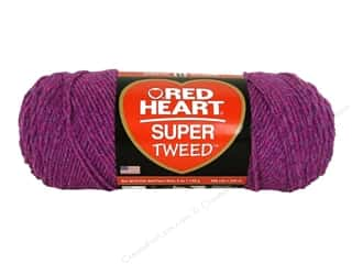 Hearts: Coats & Clark Red Heart Super Tweed Yarn 5oz Pinkberry